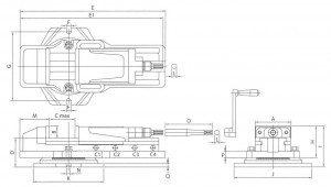 Hydraulic Vice drg